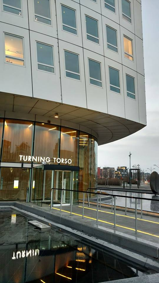 entrance and reception in Turning Torso