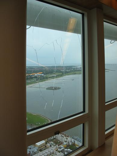 Cracked windows Turning Torso